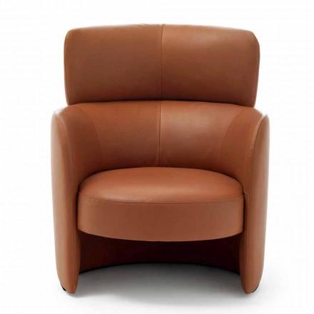 Wohnzimmer Sessel gepolstert in hoher Qualität Made in Italy Leder - Mango