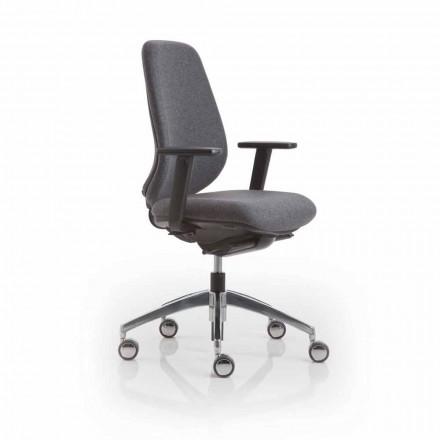 Bürosessel von moderner Design Pratica, schwarze Kunststoff by Luxy