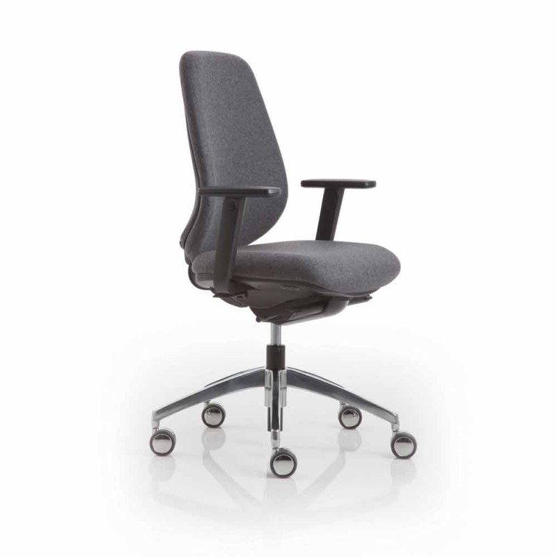 Bürosessel modernes Design Praxis, schwarzem Kunststoff