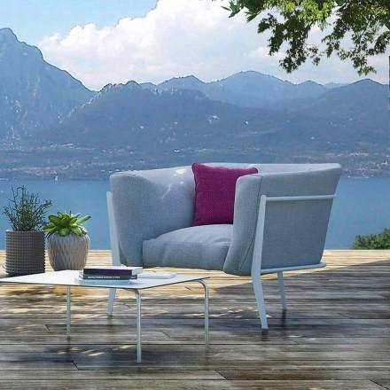 Moderner und in Italien hergestellter Design-Sessel für den Außen- oder Innenbereich - Carminio1