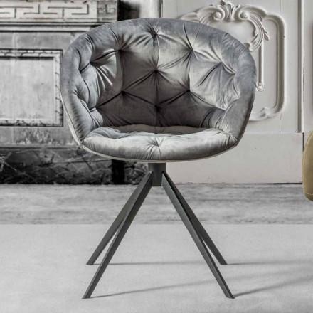 Sessel für modernes Design mit Capitonnè - Enea