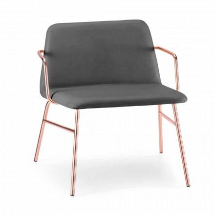 Luxus Samt Sessel mit Metallstruktur Made in Italy - Molde