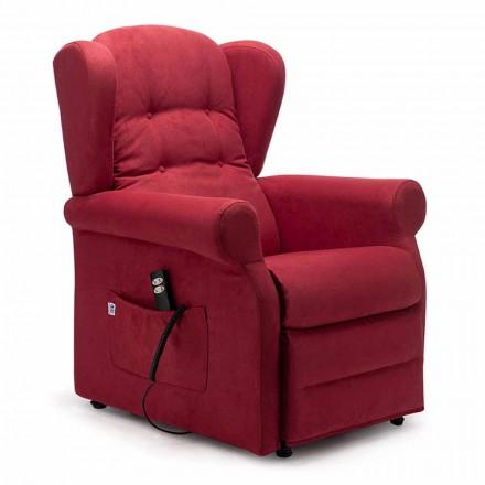 Lift Relax Armchair mit 2 Motoren Lift Relax Räder, Made in Italy - Marlene