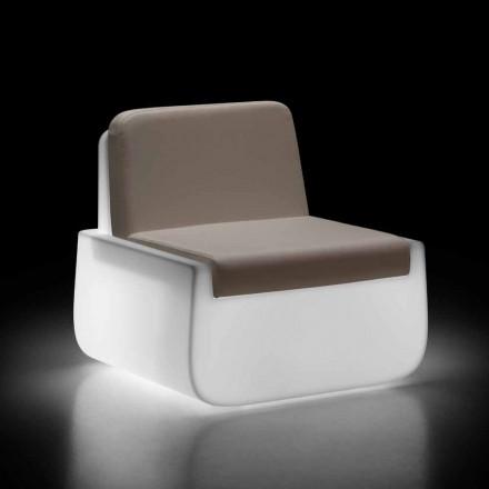 Leuchtender Outdoor-Sessel aus Polyethylen mit Kissen Made in Italy - Belida