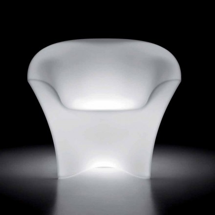 Leuchtender Outdoor-Sessel aus Polyethylen mit LED-Licht Made in Italy - Conda