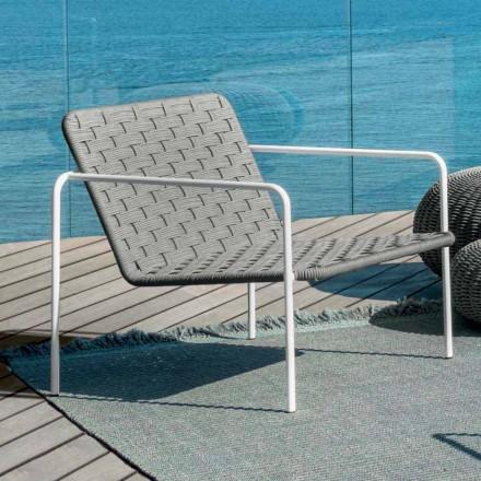 Moderner Outdoor-Sessel Living Jackie by Talenti aus synthetischem Doppelgeflecht