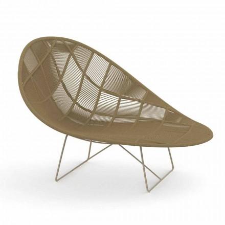 Moderner Garten Relax Sessel aus Aluminium und Stoff - Panama von Talenti