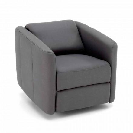 Moderner drehbarer Loungesessel aus Kunstleder - Magalotti