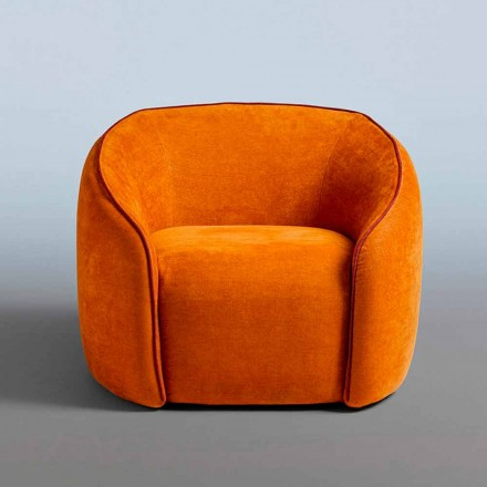 Relax Armchair Modernes Design Made in Italy aus farbigem Stoff - Baloo