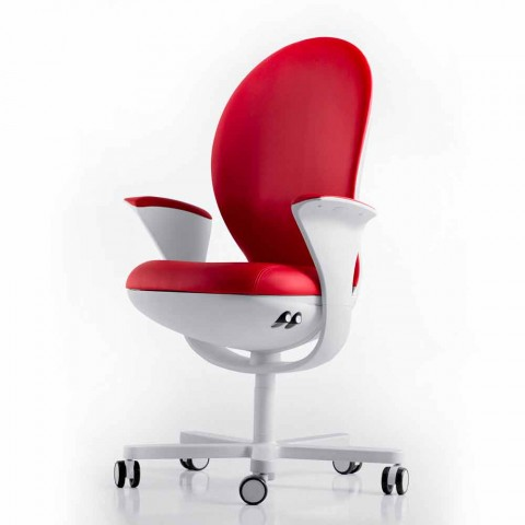 Executive-Bürostuhl mit Leder oder Stoff Bea
