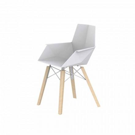 Design Wohnzimmer Sessel aus Polypropylen und Holz - Faz Wood von Vondom