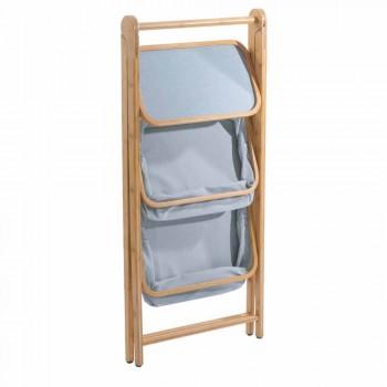 Design Badaccessoire-Halter aus Vercelli-Stoff und Bambus