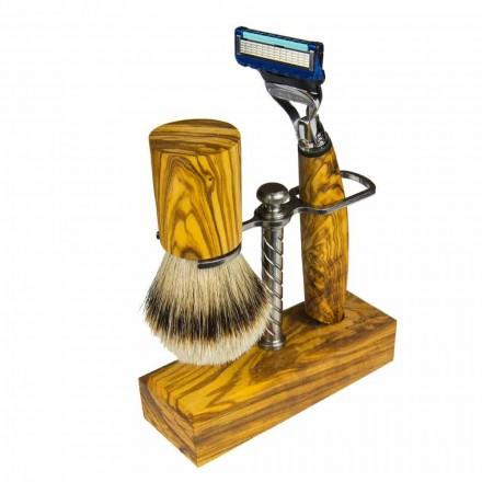 Rasiermesserhalter und Rasierpinsel, Made in Italy Artisan Product - Diplo