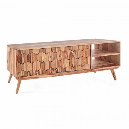Vintage Design Holz TV-Ständer mit Homemotion Stahlknöpfen - Ventador