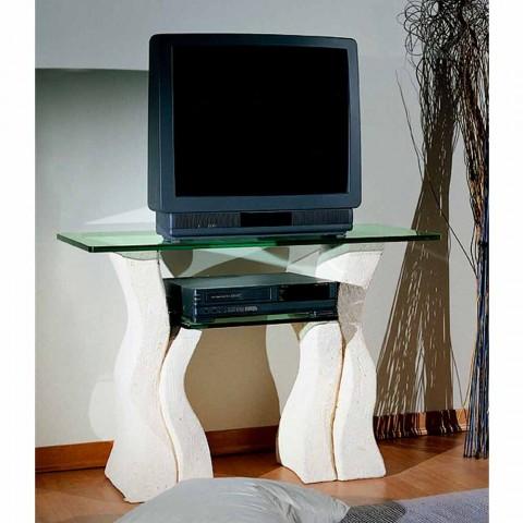 TV-Möbel aus Kristall und Stein in modernem Design Khloe