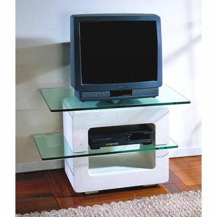Moderner TV-Möbel aus Stein und Kristall Eleni