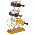 Boden- oder Tischflaschenhalter 6 Eisenflaschen, modernes Design - Brody