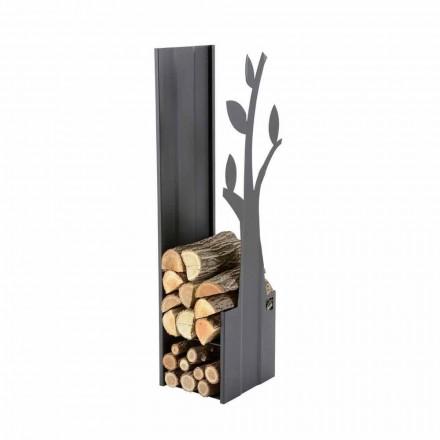 Stahl Innen Brennholzhalter für modernen Design Kamin - Maestrale1