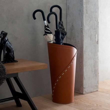 Regenschirmständer Design, Hergestellt aus Weißem und Braunem Leder ...