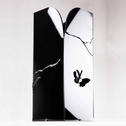 Schwarzer Plexiglas-Schirmständer mit 3D-Gravuren und Dekorationen, modernes Design - Farfo