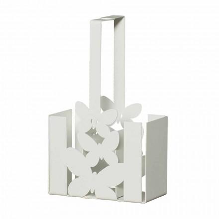 Moderner Tischbesteckhalter aus Eisen, Handarbeit, Made Italy - Laida