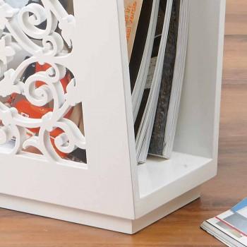 Boden-Zeitungsständer aus modernem farbigem Holz mit Dekoren - Dubai