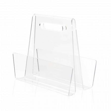Moderner transparenter Plexiglas Zeitungsständer Made in Italy - Immoral