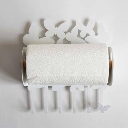 Designer Tapetenhalter aus Edeleisen Made in Italy - Leiden
