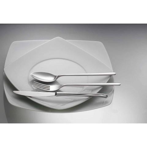24 Stück Luxus Besteck aus poliertem oder sandgestrahltem Edelstahl - Lapis