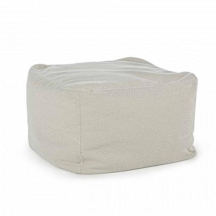 Quadratischer Hocker im Freien, bedeckt mit wasserabweisendem Stoff, Homemotion - Lydia