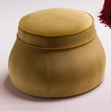 Gepolsterter Pouf in klassischem luxury Design, made in Italy Simon