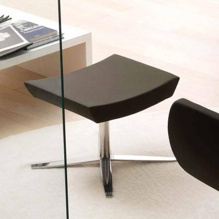 Modernes Büro-Pouf aus Kunstleder und Aluminium - Clio