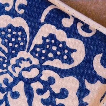 Topflappen italienischer Kunst aus reinem Leinen mit handbedrucktem Einzelstück - Marken