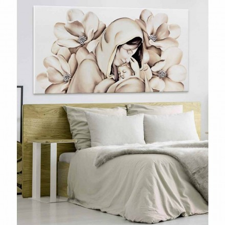 Modernes Design Gemälde in Relief auf Leinwand in Italien gefertigt Sole