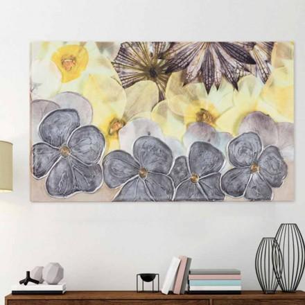 Gemälde modern mit Blumen handdekoriert Ramos