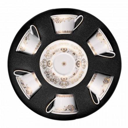 Rosenthal Versace Medusa Gala Gold Set Teetassen 6 Stück