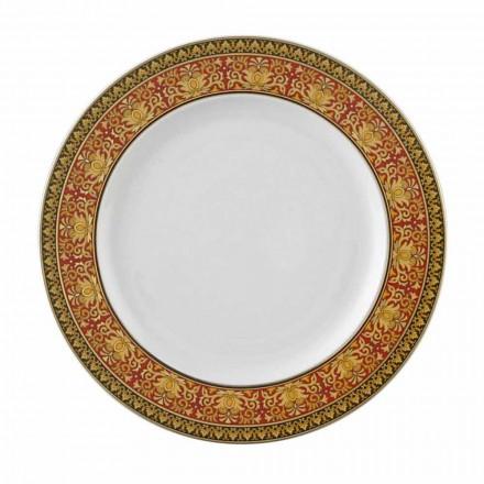 Rosenthal Versace Red Medusa 22 cm flache Platte aus Porzellan
