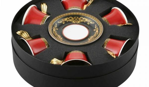 Elektrokamin Versace : Rosenthal versace medusa rote teetasse stück in porzellan