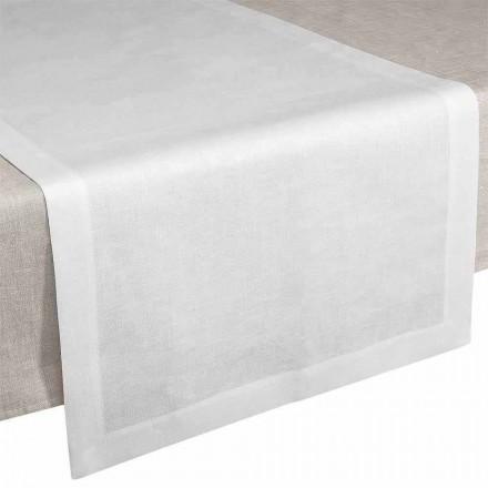 Tisch Runner aus reinem Leinen cremeweiß 50x150 cm – Poppy