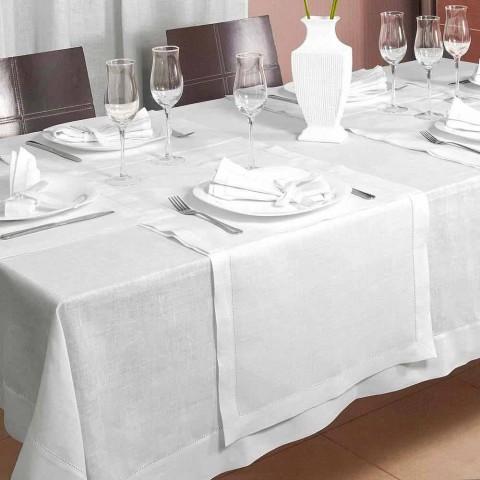 Tischlaufer Aus Cremeweissem Leinen 50x150 Cm Made In Italy