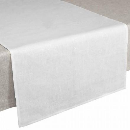 Tisch Runner 50x150 cm aus reinem Leinen cremeweiß – Blessy