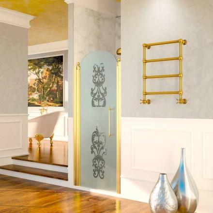 Design elektrischer Handtuchwärmer Scirocco H Caterina aus Messing goldfarben