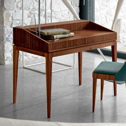 Schreibtisch aus Nussholz in modernem Design, L105xP65cm Acario