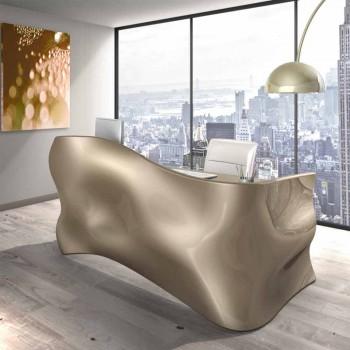 Moderner Schreibtisch Büro Veil, made in Italy