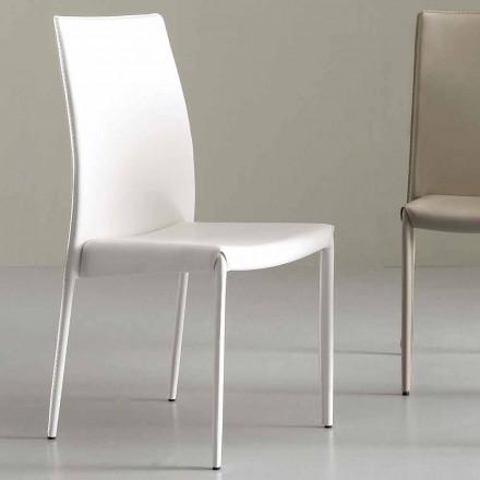 Moderner Stuhl komplett aus Kunstleder bezogt - Eloisa