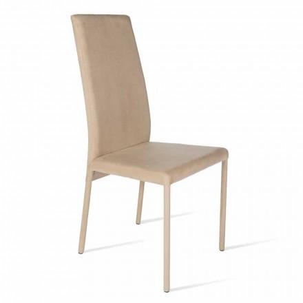 Stuhl mit hoher Rückenlehne, modernes Design, Becca, made in Italy