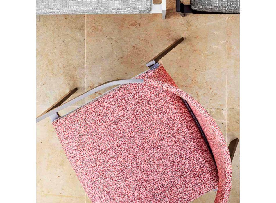Außenstuhl mit oder ohne Kissen, Aluminium Design 3 Oberflächen - Filomena