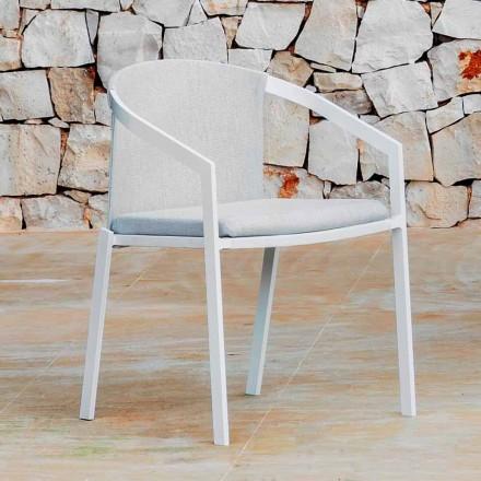 Aluminium Outdoor Stuhl mit oder ohne Kissen, Hochwertig, 4 Stück - Filomena