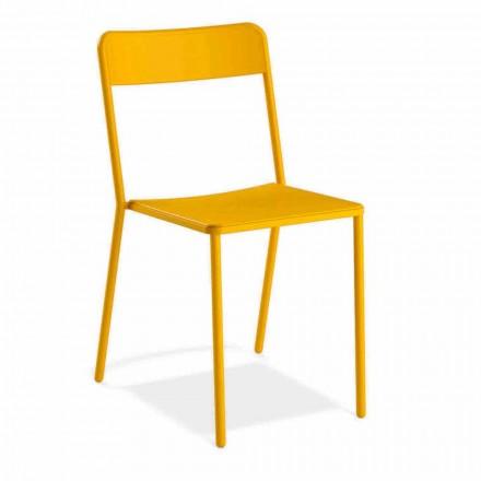 Stapelbarer Metallstuhl im Freien Hergestellt in Italien, 4 Stück - Xylia