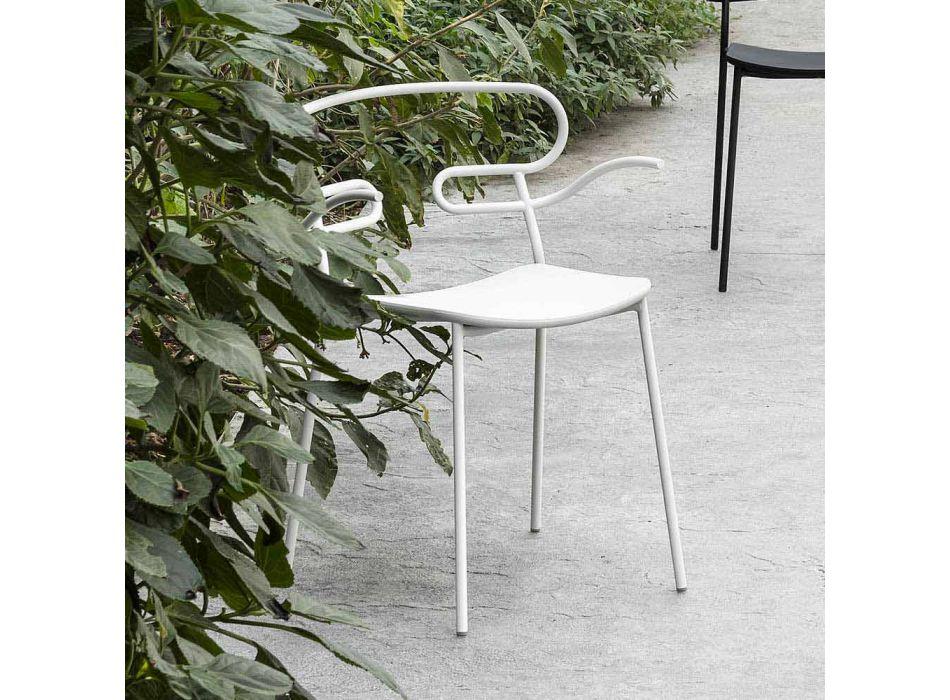 Außenstuhl aus Metall und Polyurethan Hergestellt in Italien, 2 Stück - Trosa